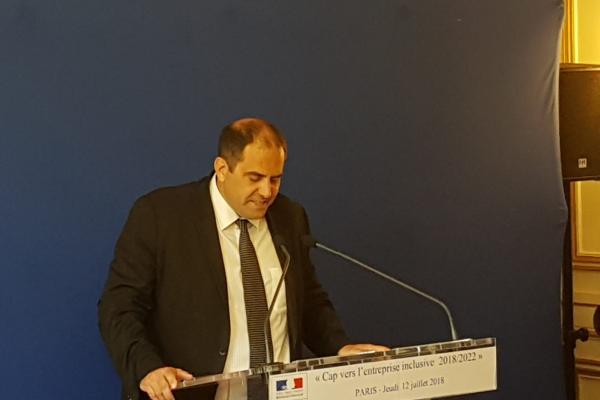 CAP vers l'entreprise inclusive: discours de Cyril Gayssot, Président de l'UNEA