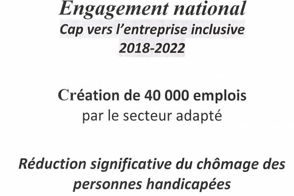 Engagement National: Cap vers l'entreprise inclusive 2018 - 2022