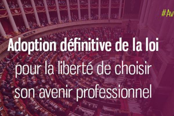 La loi « pour la liberté de choisir son avenir professionnel » est promulguée