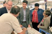 Visite du député Aurélien Pradié chez Ymca Services à Cahors