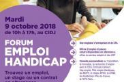 L'UNEA au forum Emploi-Handicap, mardi 9 octobre 2018, de 10h à 17h au CIDJ à Paris
